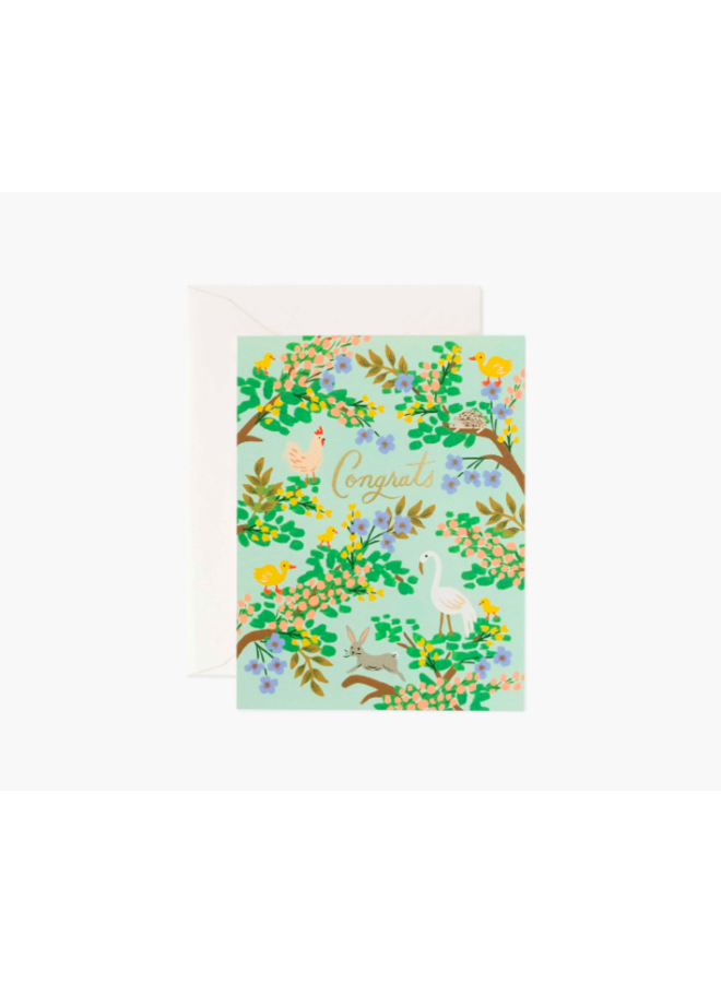 Rifle Paper Co Card - Congrats Forest
