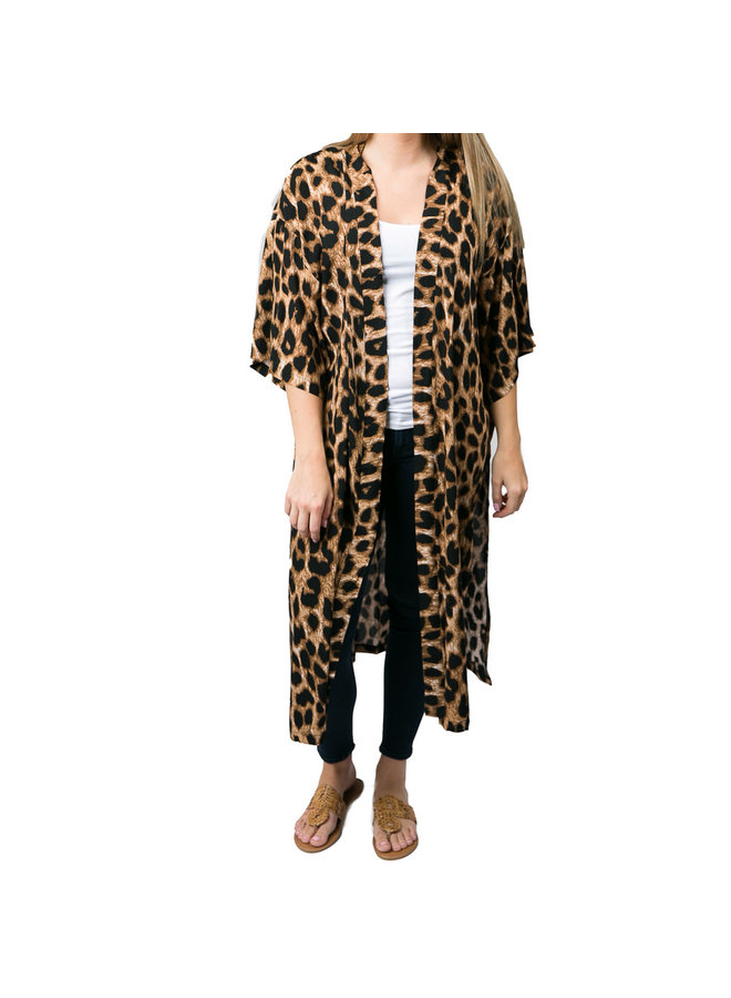 Leia Cheetah Kimono