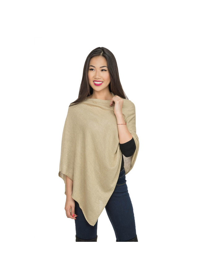 Gold Metallic Poncho
