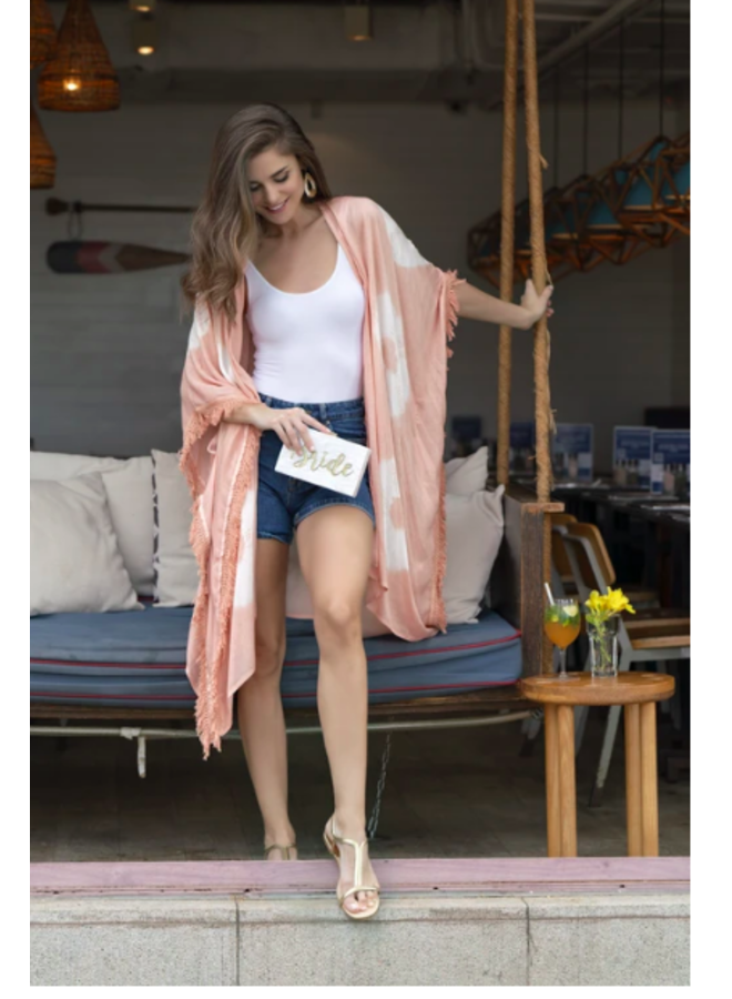 Vida Kimono- Light Pink Tie Dye
