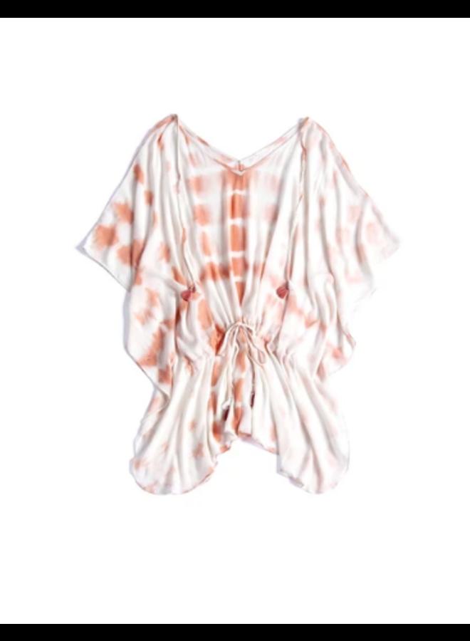 Tricia Cover Up - Peach Tie Dye