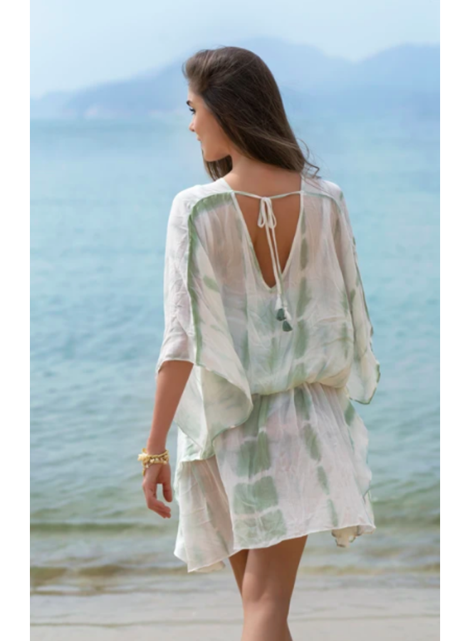 Tricia Cover Up - Mint Tie Dye