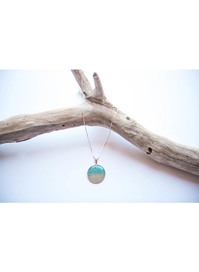Marina Silver 18' Necklace - Islamorada Sand & Turquoise by Dune
