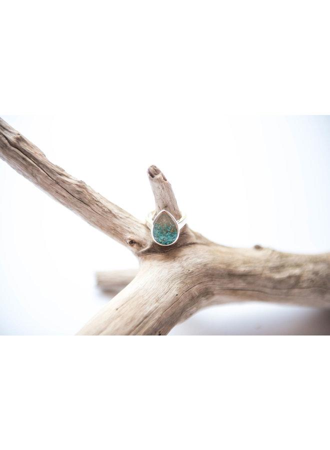 Tear Drop Ring -Islamorada Sand & Turquoise by Dune