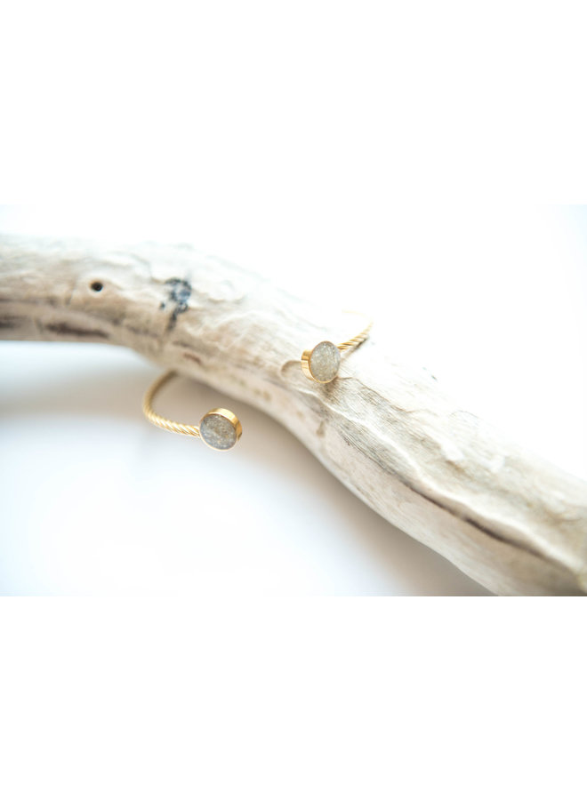 Rope Inlet Gold Cuff Bracelet - Islamorada Sand by Dune