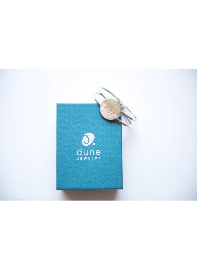 Marina Silver Plated Cuff - Islamorada Sand & Conch Shell by Dune