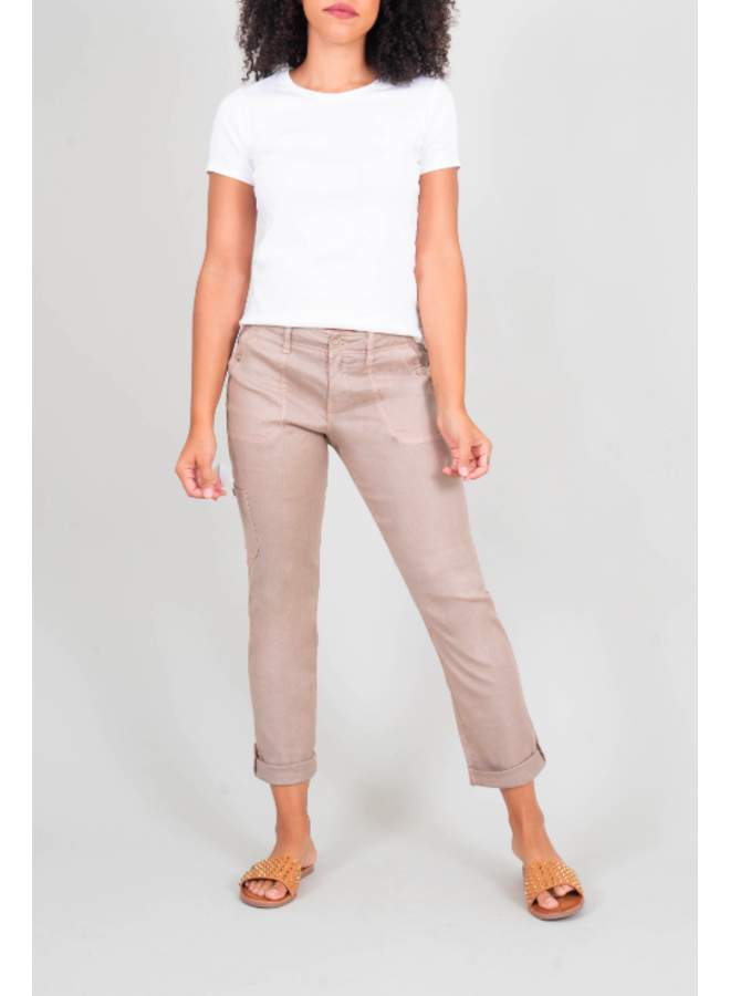 Light Tan Cargo Tencel Pant by Level 99