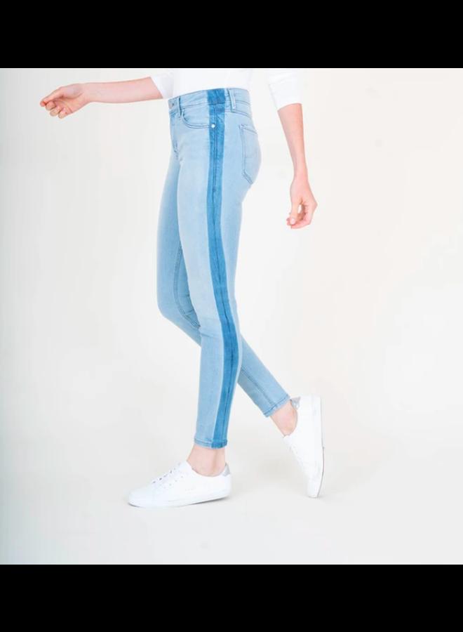 Midrise Janice Skinny Jeans - 2 Tone Denim by Level 99