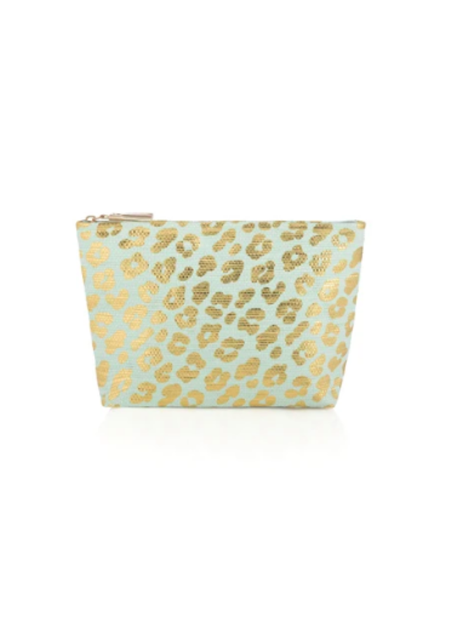 Metallic Cheetah Zip Pouch