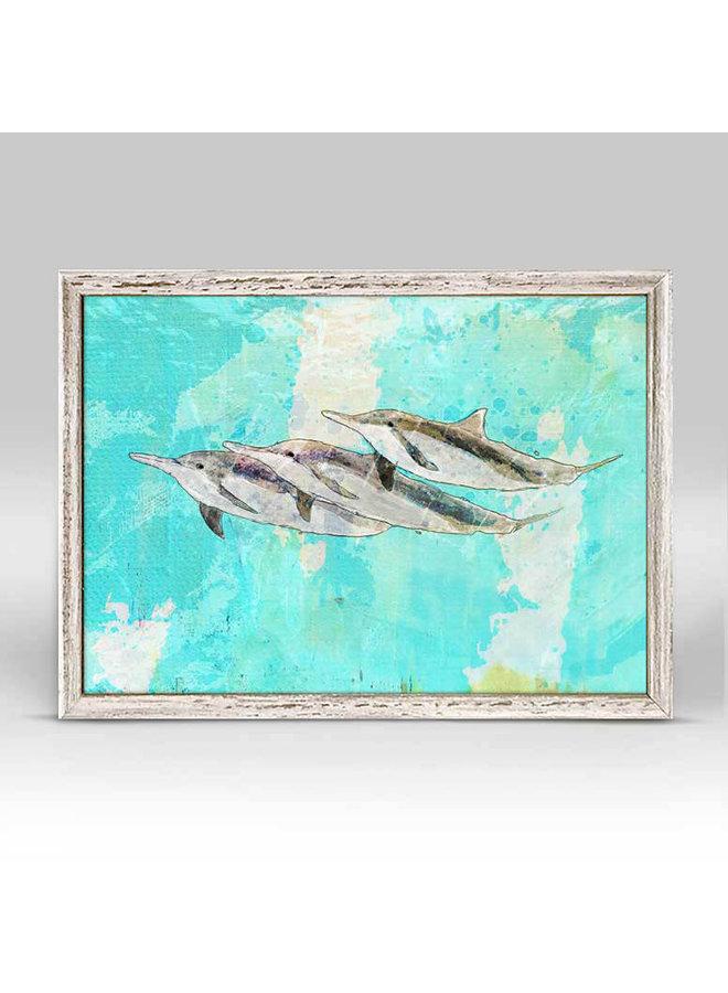 Spinner Dolphins 7x5 Mini Wall Art