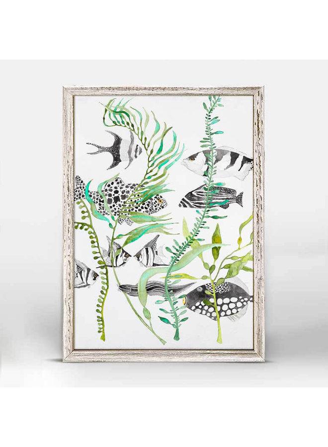 Black And White Fish 5x7 Mini Wall Art