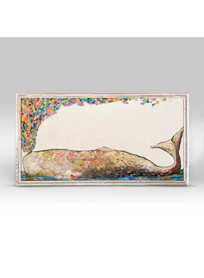Whale Spray 10x5 Mini Wall Art