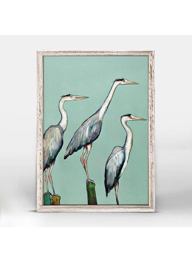 Heron Focus 5x7 Canvas Wall Art