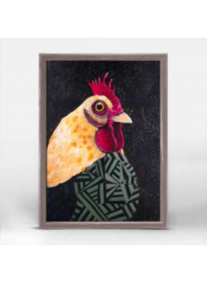 Rooster Stare 5x7 Mini Wall Art