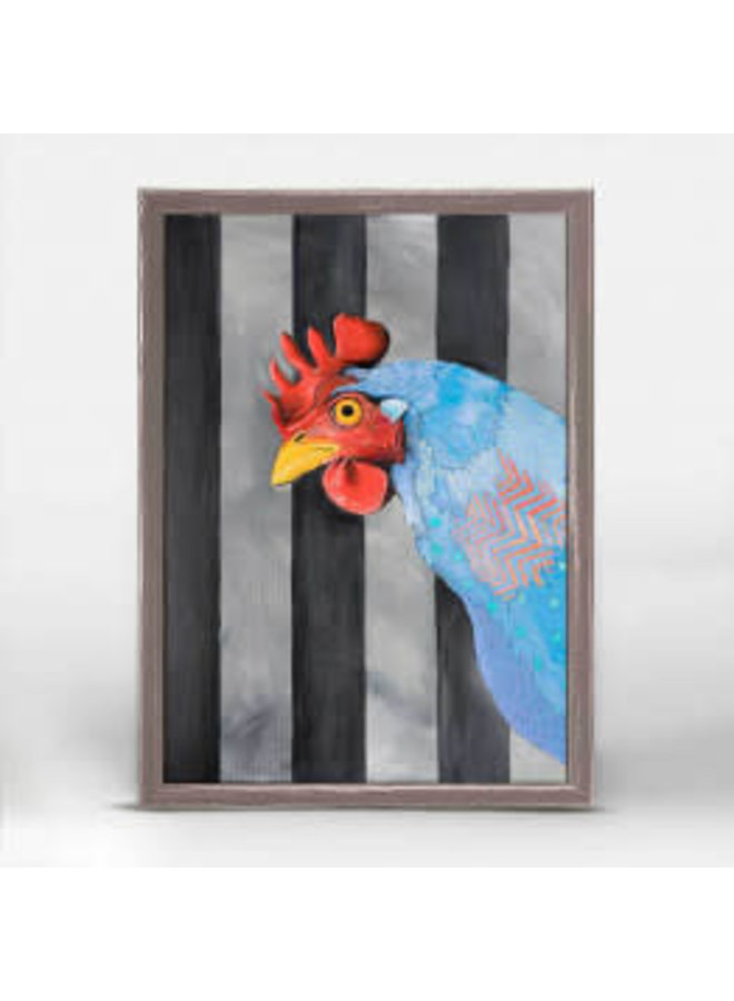 Rooster w/ Stripes 5x7 Mini Wall Art