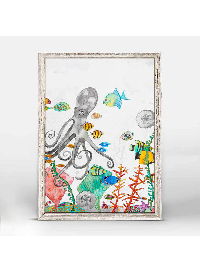 Underwater Garden - Octopus 5x7 Mini Wall Art
