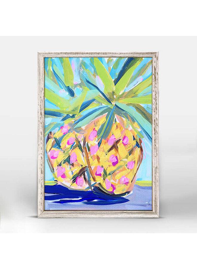 Pineapples Abstract  5x7 Rustic Mini Wall Art