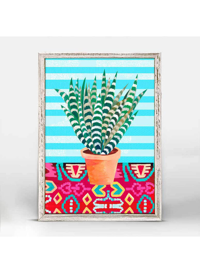 Bright Afternoon Plant n Pot Mini Framed 5x7 Canvas