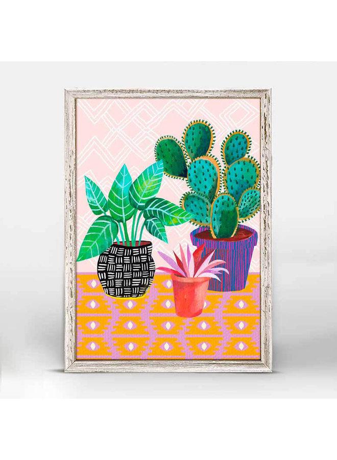 Plants are Life Mini Framed 5x7 Canvas