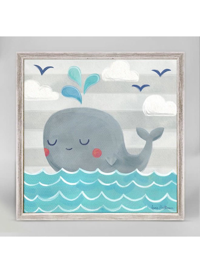 Floating Whale 6x6 Canvas Wall Art