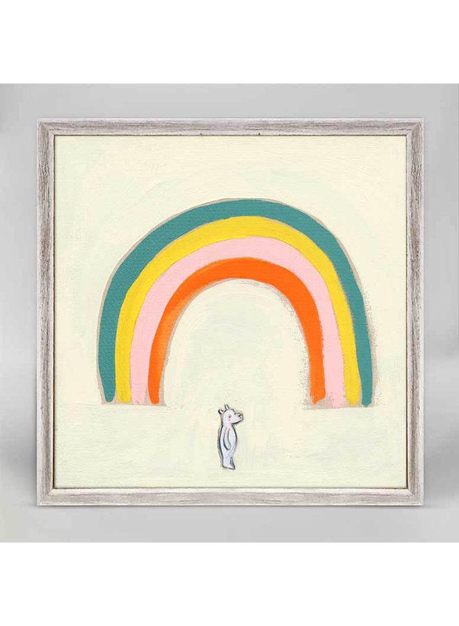 My Rainbow Bear 6x6 Mini Wall Art