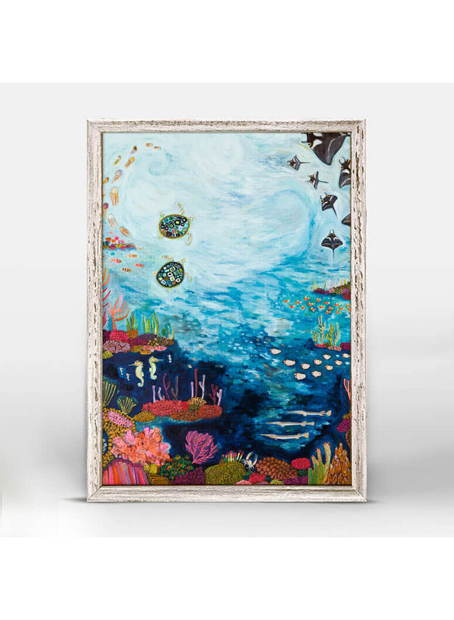 Manta Ray Reef 5x7 Canvas Wall Art