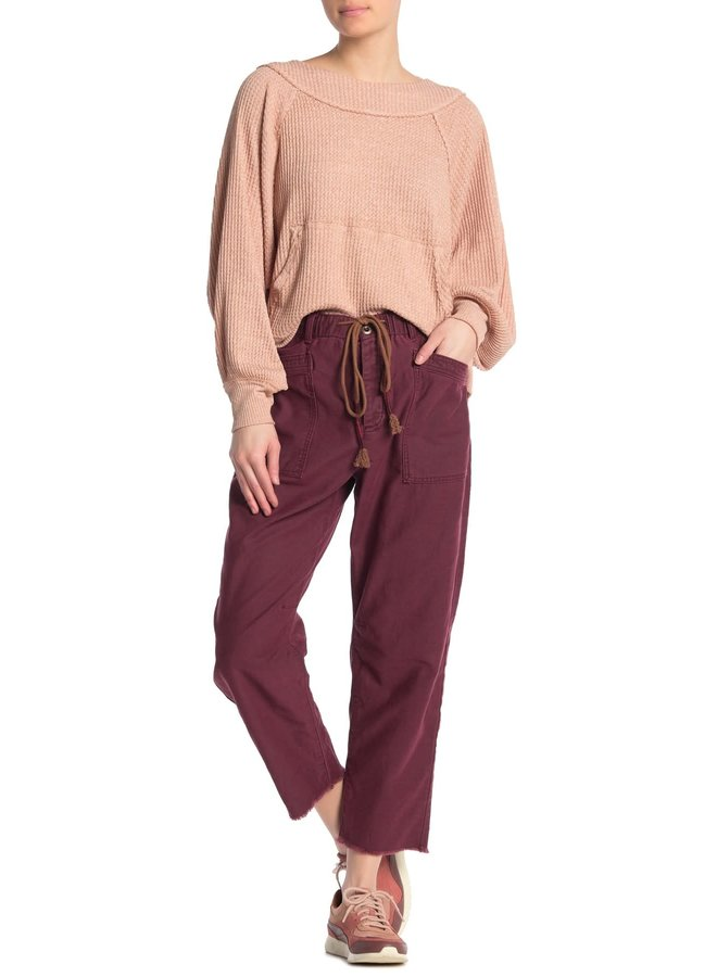 Boyfriend Jogger Pants by Free People - Wine