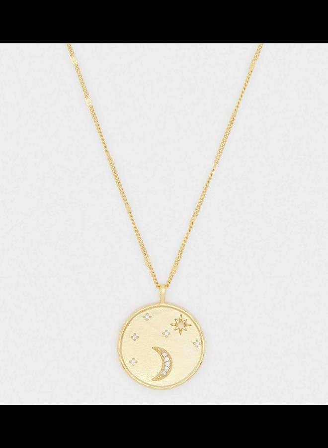 Luna Coin Necklace w/ White Opalite
