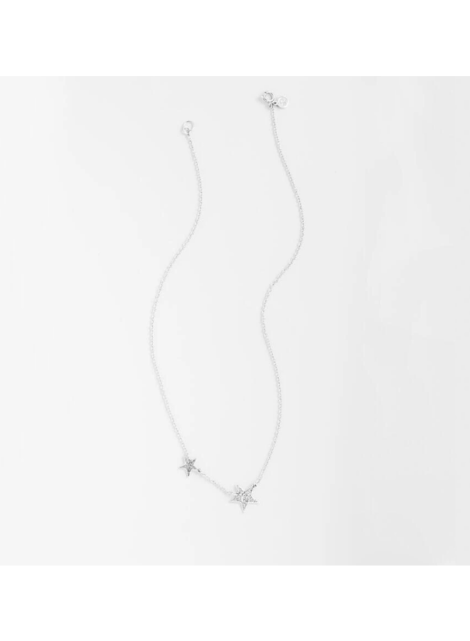Super Star Silver Necklace - by Gorjana
