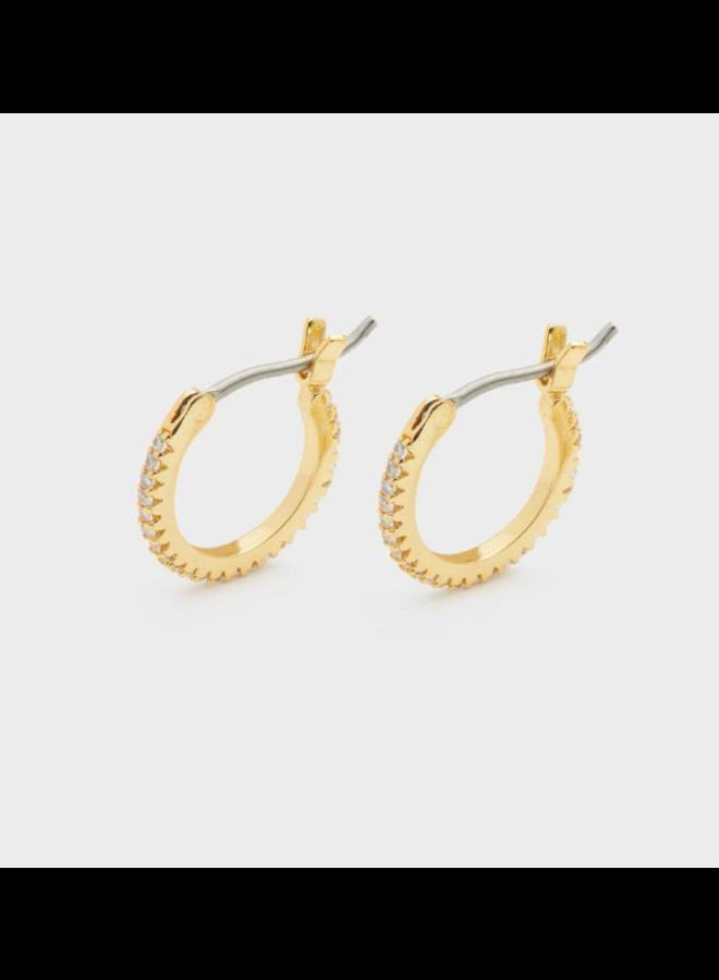 Shimmer Huggies Earrings by Gorjana