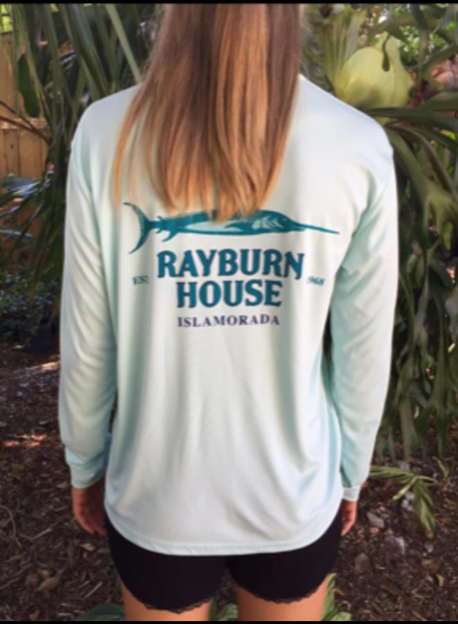 Rayburn House Long Sleeve Tee Shirt - Mint Green UPF 50
