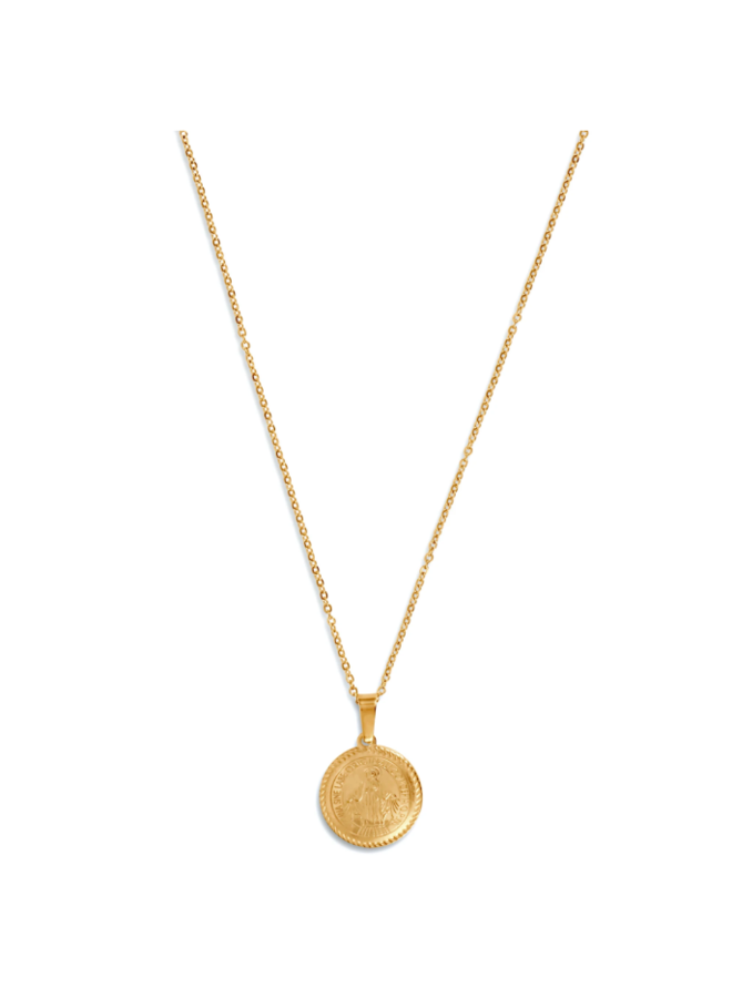 Arlo St. Benedict Disc Necklace by Ellie Vail