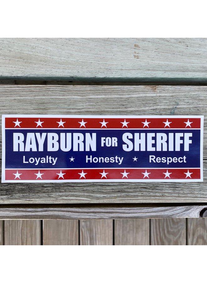 Rayburn For Sheriff Sticker