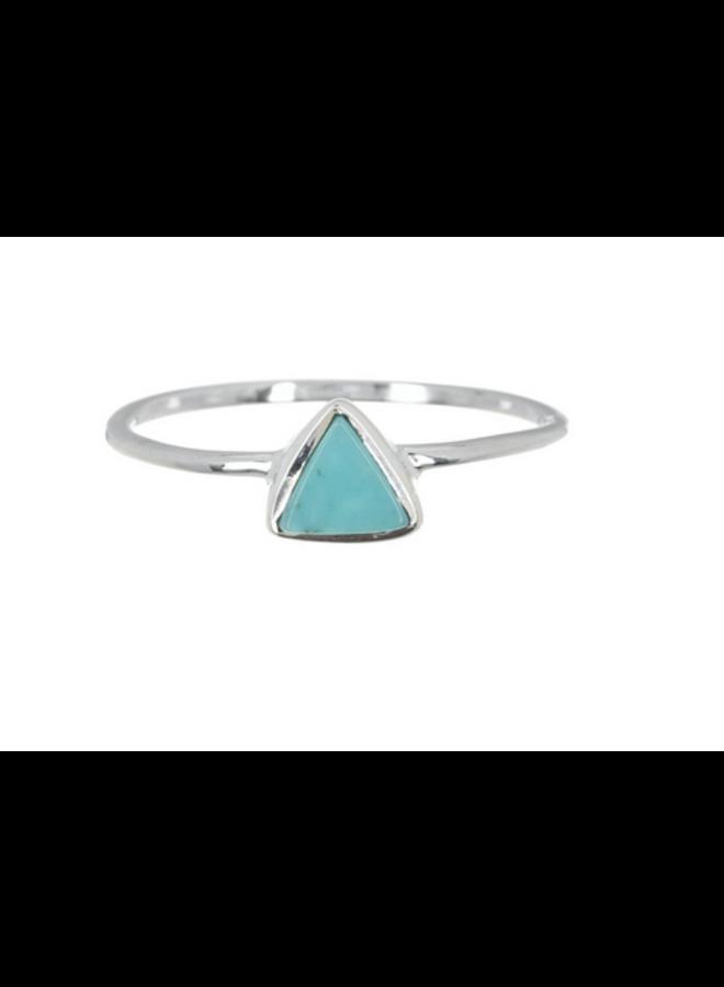 Pura Vida - Triangle Stone Ring Silver