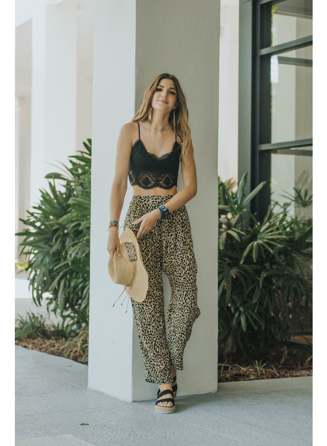 Sun Baked Beach Woven Pants by Amuse Society - Leopard