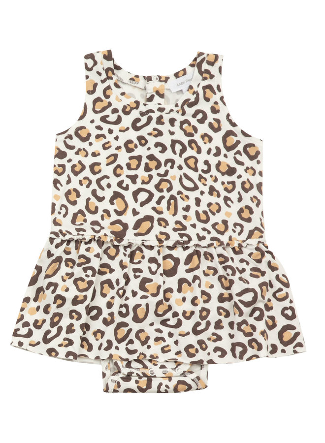 Bodysuit With Skirt - Leopard by Angel Dear