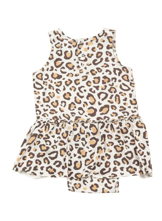 Bodysuit With Skirt - Leopard by Angel Dear