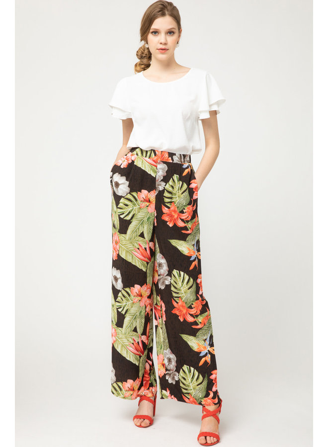 High Waisted Tropical Pants By Entro