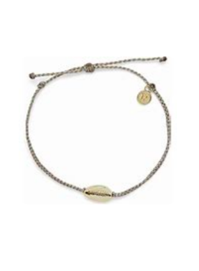 Pura Vida - Gold Cowrie Shell Cord Anklet