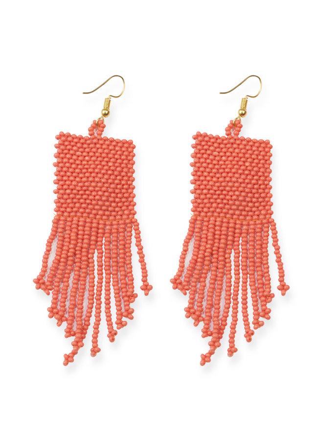 Coral Petite Fringe Earring