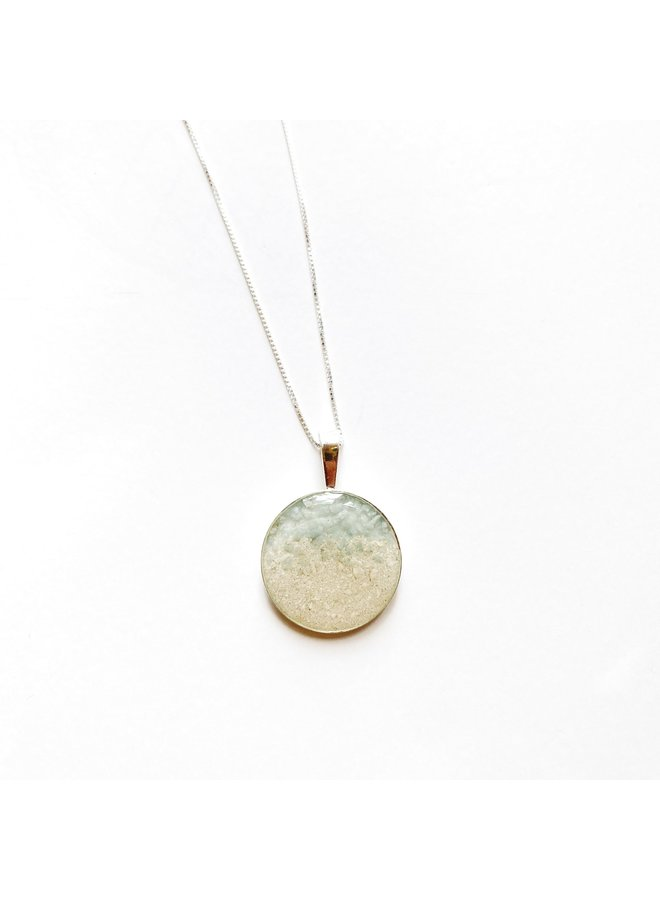 Marina Silver 18' Necklace - Islamorada Sand & Amazonite by Dune