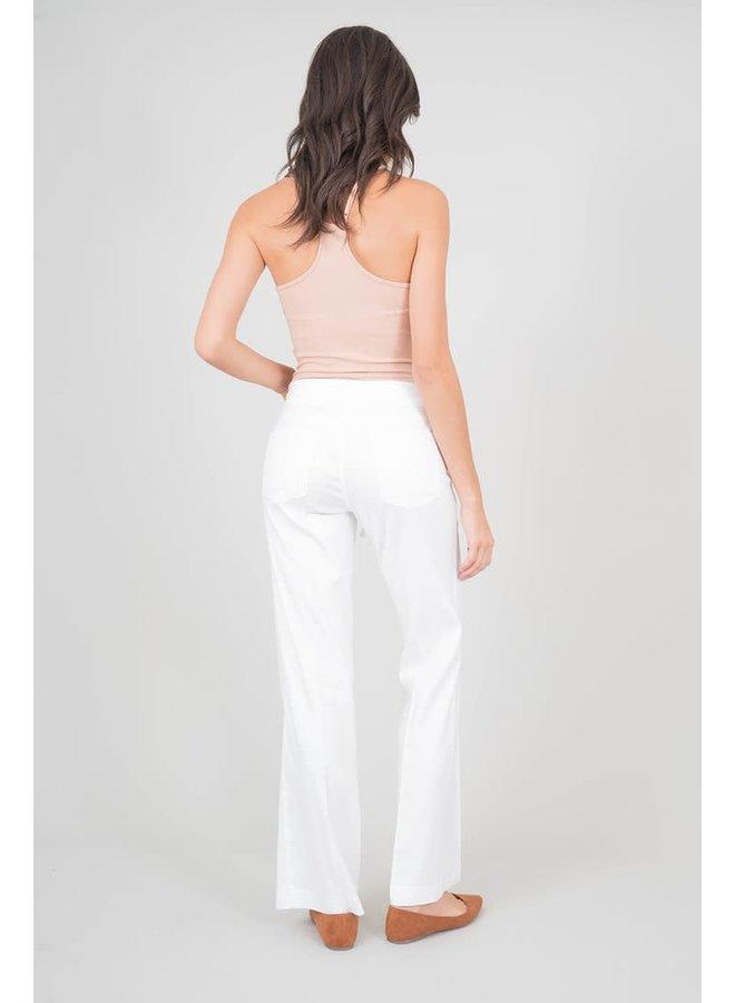 Elliott Lounge Pant w/ Drawstring - Bright White by Level 99
