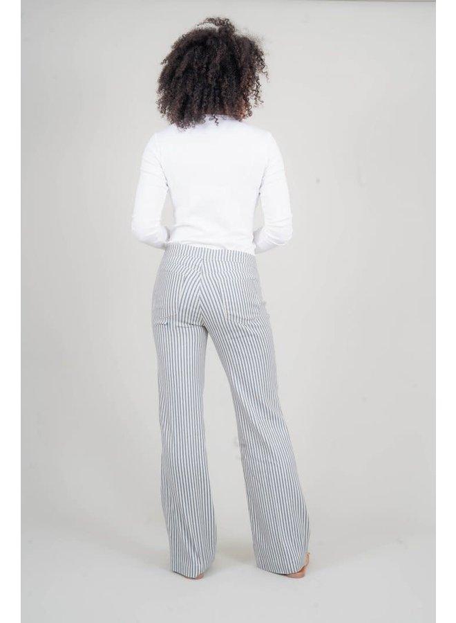 Elliott Lounge Pant w/ Drawstring - Nautical Navy Stripe by Level 99