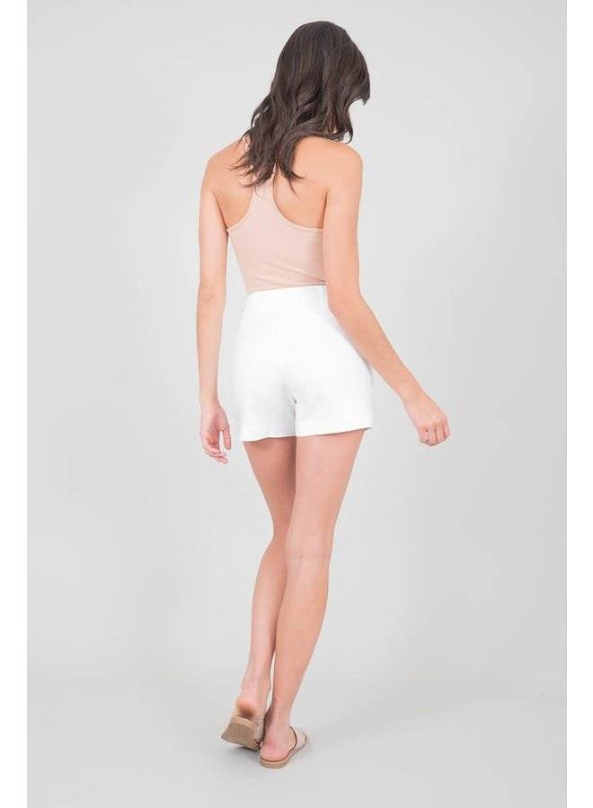 Andie Shorts - Bright White by Level 99