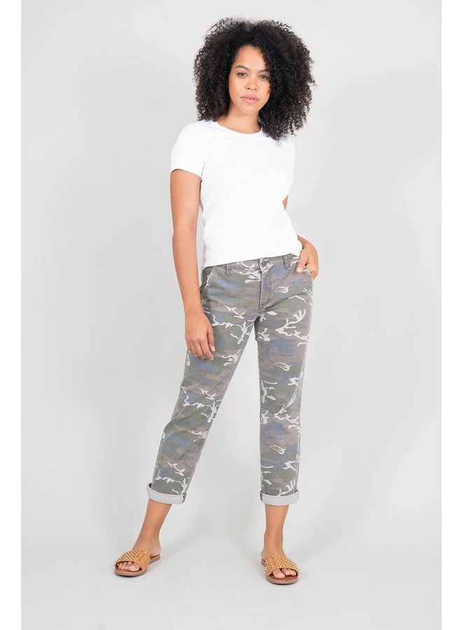 Daylight Camo Casual Trouser w/ Side Stripe by Level 99