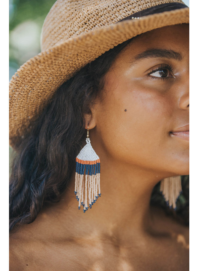 Gypsy Soul Natural Hat w/ Beaded Arrow- Ale by Alessandre