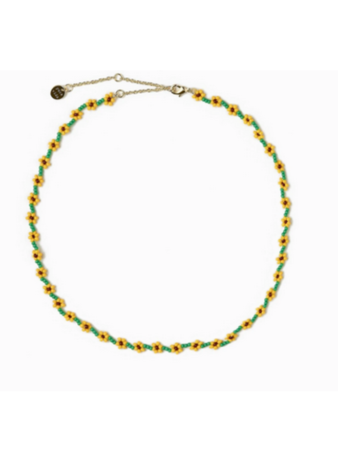 Pura Vida -  Sunflower Seed Bead Choker Necklace