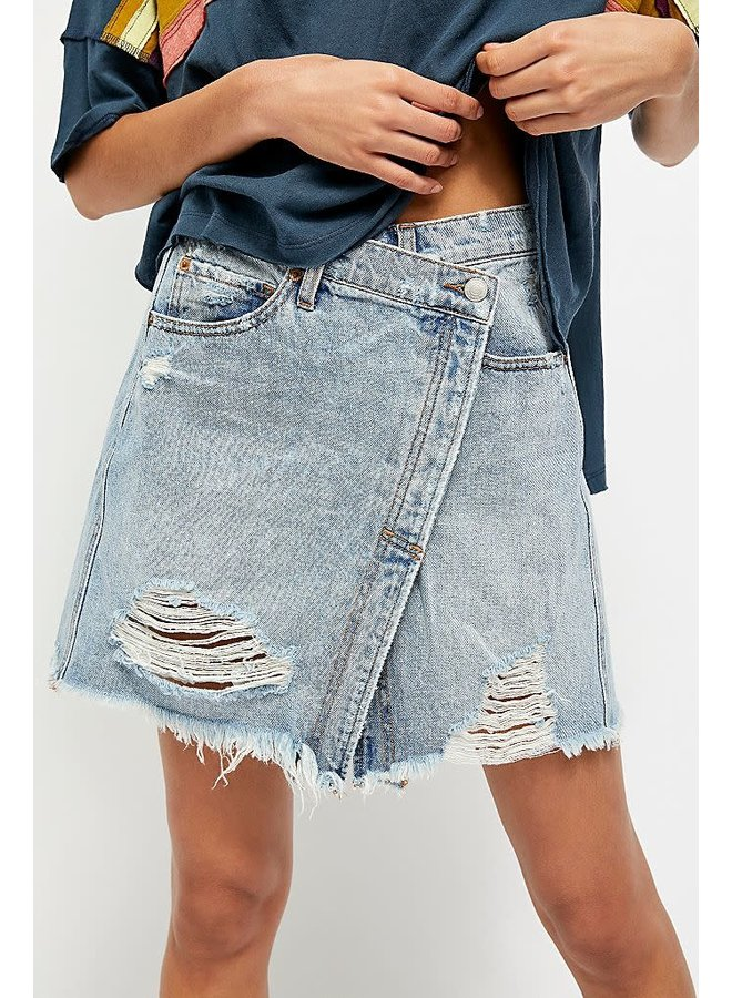 Parker Wrap Denim Skirt by Free People