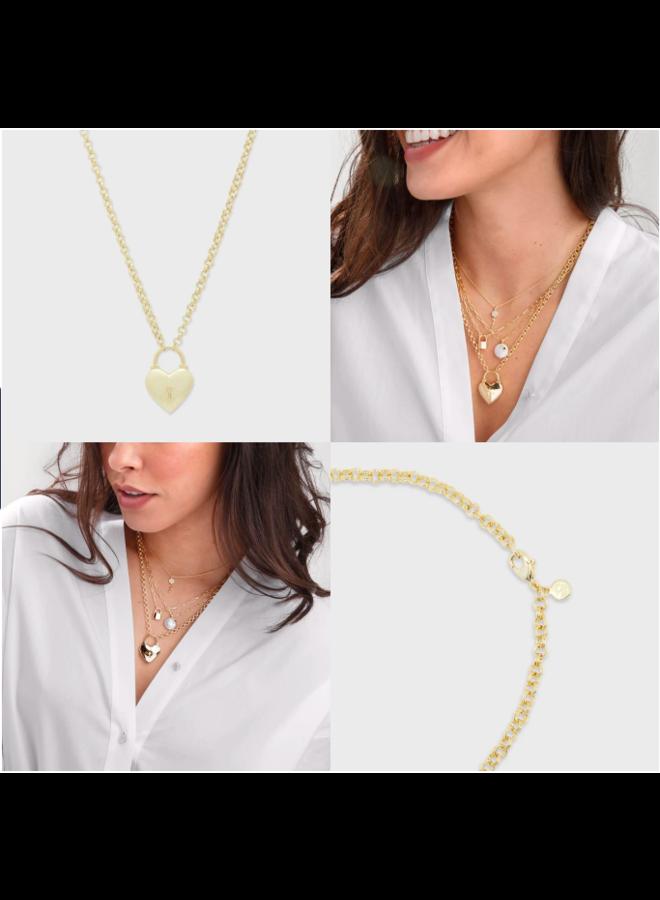 Kara Heart Padlock Necklace
