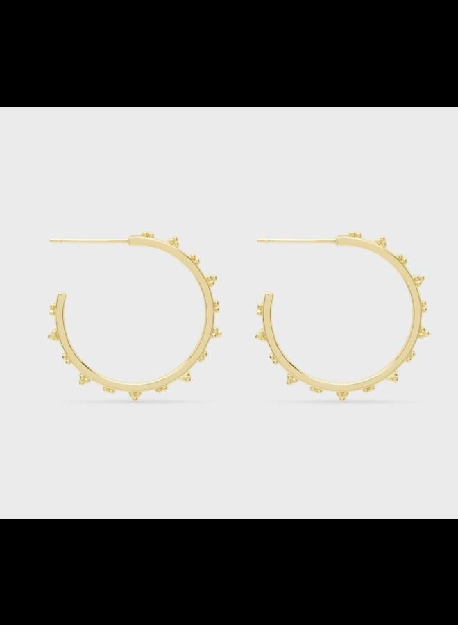Costa Small Hoop Earrings Gold- by Gorjana